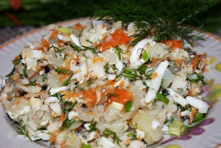 рецепт салат рыбный с фото