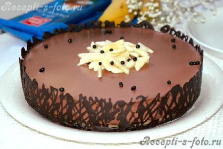 самое простое украшение тортов фото