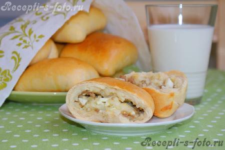 Пирожки с рисом и мясом в духовке пошаговый рецепт
